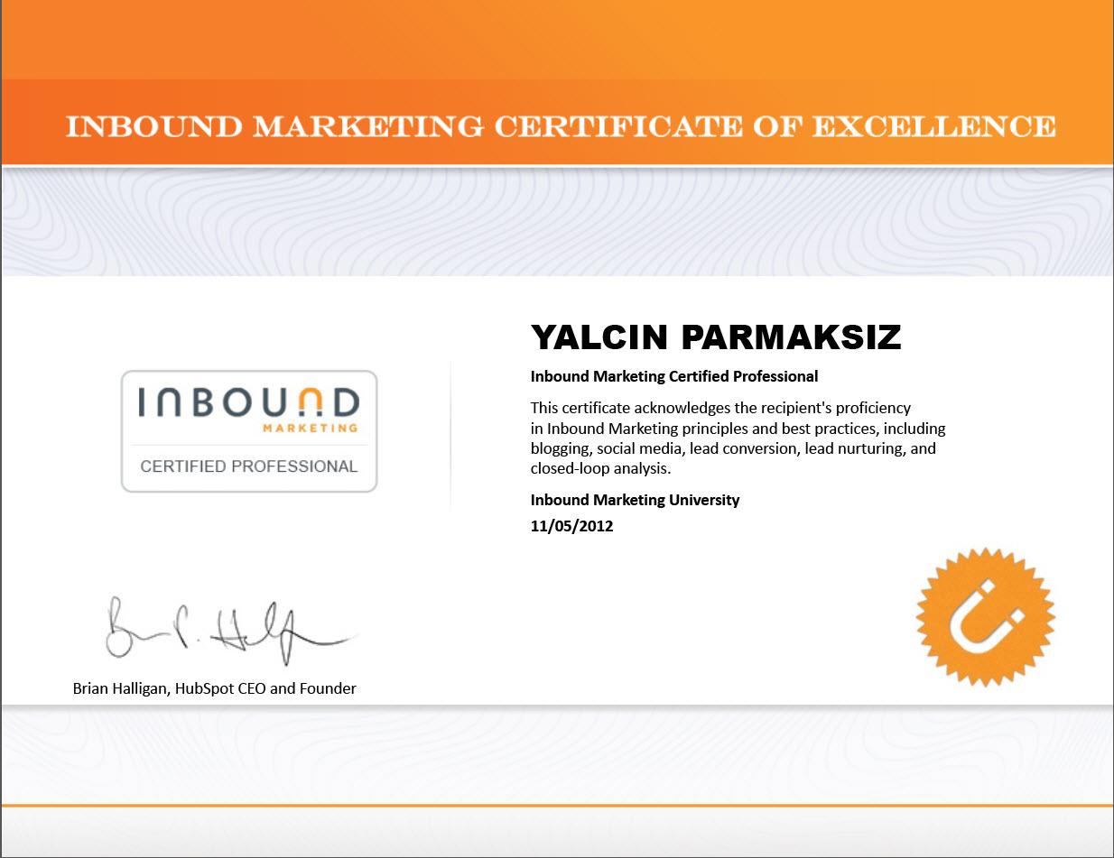 Inbound marketing certificate